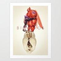big hero 6 Art Prints featuring Big Hero 6 by NAVAR