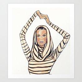 Striped Hoodie! Art Print
