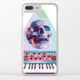 Electro Skull Synthesizer Clear iPhone Case