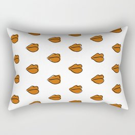 Orange Lippies Rectangular Pillow
