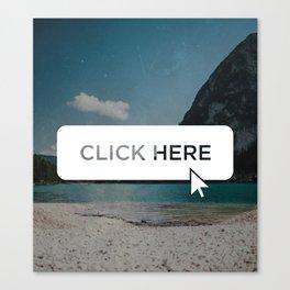 Click Here Button Canvas Print