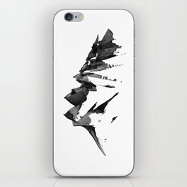 Mountain Painting | Landscape | Black and White Minimalism | By Magda Opoka iPhone Skin