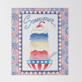 Summer Sundae Throw Blanket