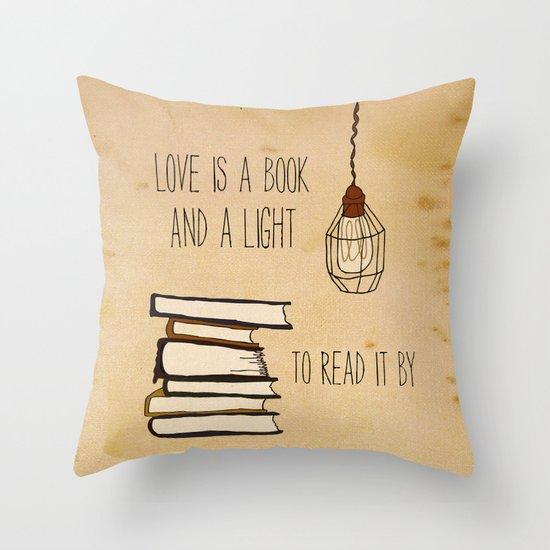 Love Is A Book Throw Pillow