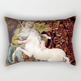 Lady and Unicorn Rectangular Pillow