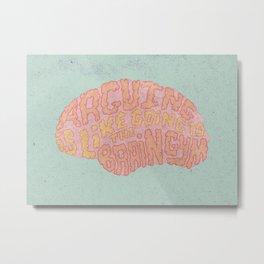 GAVIN McINNES ON ARGUING Metal Print