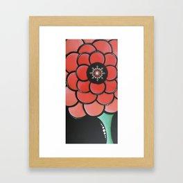 Peachy Mint Framed Art Print