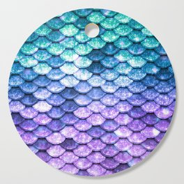 Mermaid Ombre Sparkle Teal Blue Purple Cutting Board