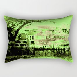 Green Spooky Boathouse Rectangular Pillow