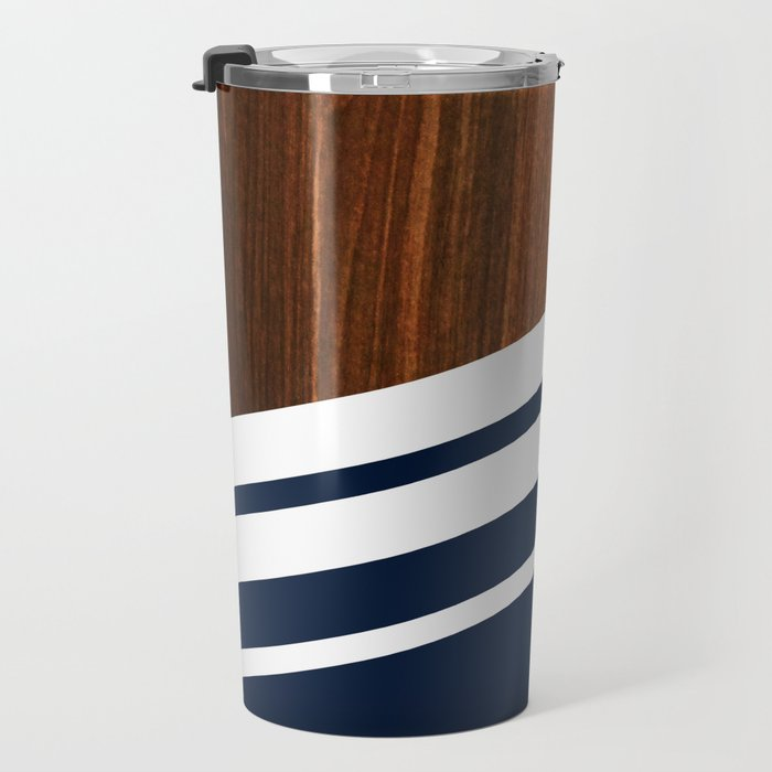 Wooden Navy Travel Mug