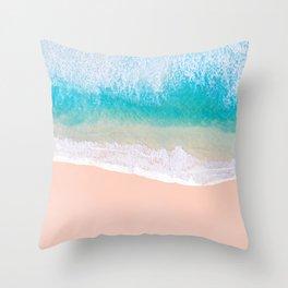 Ocean in Millennial Pink Throw Pillow