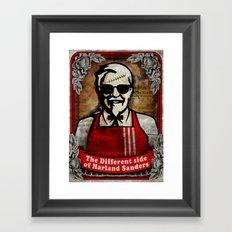 another side of kol. Sanders Framed Art Print
