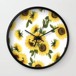 Lovely Sunflower Wall Clock