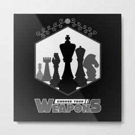 Chess, Chess Chess player, Chess Gift Metal Print