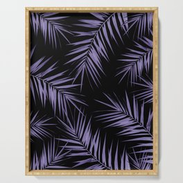 Palm Leaves Cali Finesse #5 #UltraViolet #Black #tropical #decor #art #society6 Serving Tray