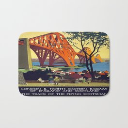 Vintage poster - Forth Bridge Bath Mat