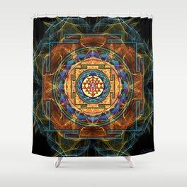 The Sri Yantra - Sacred Geometry Shower Curtain
