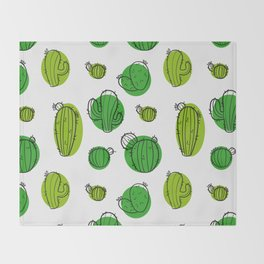 Cacti Throw Blanket