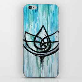 Lotus in the Rain I iPhone Skin