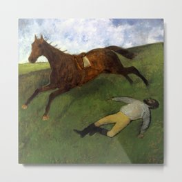 Injured Jockey Metal Print