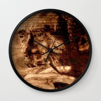 bukowski Wall Clocks featuring Charles Bukowski - wood - quote by ARTito