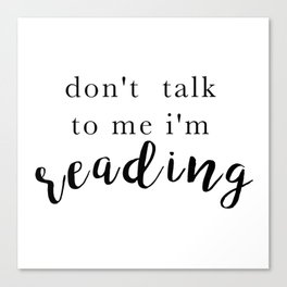 bookworm  Canvas Print