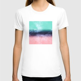 Modern watercolor abstract paint T-shirt