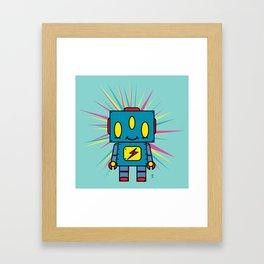Vintage Kid Robot Framed Art Print