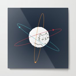 Cat-ion Metal Print