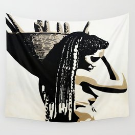 african woman with basket 11 Wall Tapestry