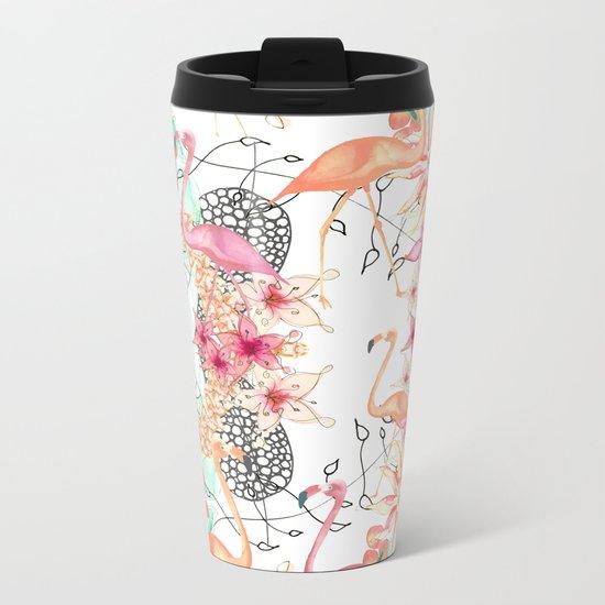 FlAmINGOS Metal Travel Mug