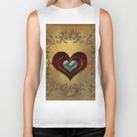hearts Biker Tanks featuring Hearts by nicky2342