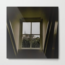 the view outside Metal Print