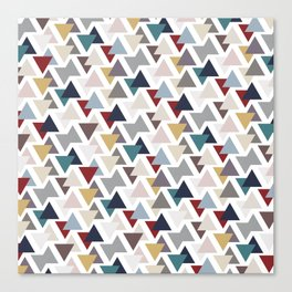 Scatter triangles Canvas Print