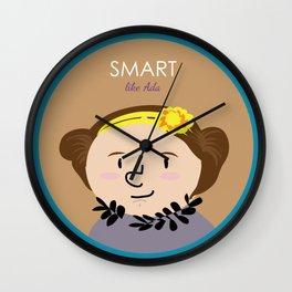 Smart like Ada Lovelace Wall Clock