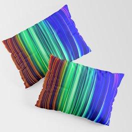 Rainbow Christmas Lights Light Painting Pillow Sham