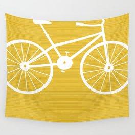 Yellow Bike by Friztin Wall Tapestry