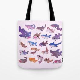 Shark day - pastel Tote Bag