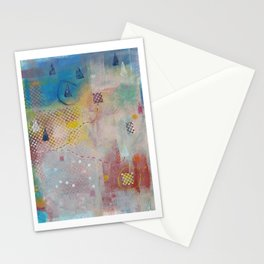 Journey, mixed media abstract Stationery Cards