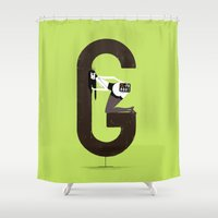 gemma Shower Curtains featuring Gemma & Targa by ChicksAndType