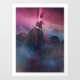 Bruised Beautiful Dreams Art Print