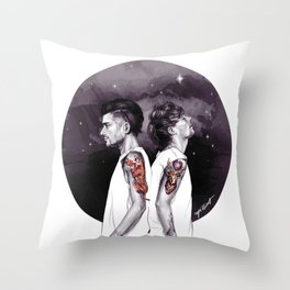 The Tiger and The Stag Throw Pillow