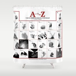 A-Z Animals Shower Curtain