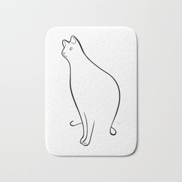 Linear Cat 01 Bath Mat