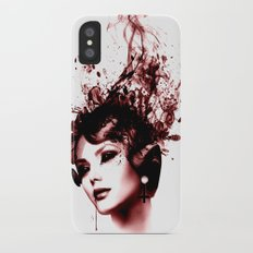 the woman in red Slim Case iPhone X