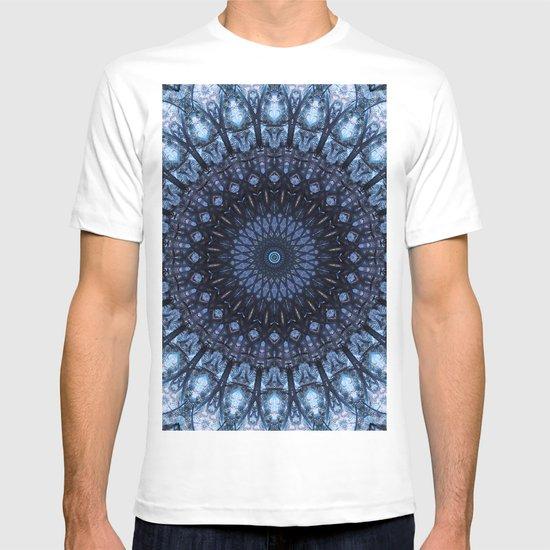 Dark and light blue mandala by jaroslawblaminsky