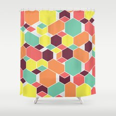 Hex P II Shower Curtain