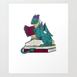 In a world of bookworms be a book dragon Art Print