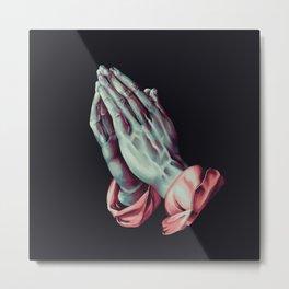 Praying Hands (Albrecht Durer) Digital Painting Metal Print