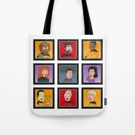 The Family Star Trek Bunch: Next Generation Tote Bag